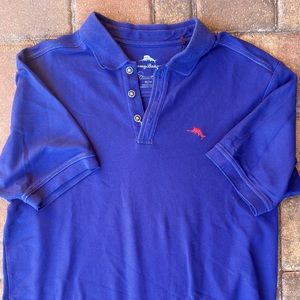 Sz M Tommy Bahama Pima cotton Blue polo shirt